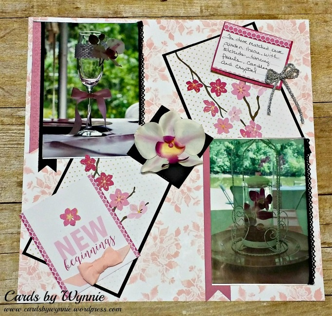 scrapbook layout w