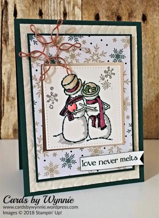 snowy couple w